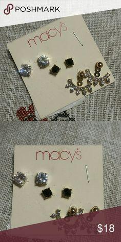 3 PAIRS OF STUD EARRINGS It was store display. Jewelry Earrings