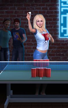 University Life Juice Pong