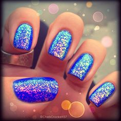 Brillant Blue! I have this Essie Special Effects glitter polish
