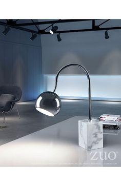 Zuo Modern 50300 Run Table Lamp Chrome