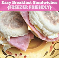 Easy Freezer Breakfast Sandwiches - Simple Living Mama
