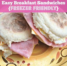 Easy Freezer Breakfast Sandwiches - Simple Living Mama