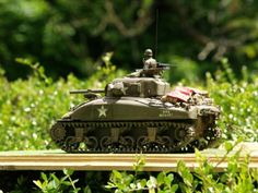 M4A1 Sherman ,Operation Cobra 1944. Fitted with Cullin prong to deal with bocage hedges. American. Dragon kit  The Pip Gower Collection.