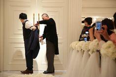 新郎に贈る最後の身支度*お父さんからタキシードを着せてもらう「ジャケットセレモニー」って知ってる?にて紹介している画像 Chapel Wedding, Bridesmaid Dresses, Wedding Dresses, Wedding Tips, Marriage, Formal Dresses, Pink, Weddings, Fashion