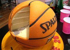 Basket Ball Cake (Cool Food Art - Uphaa.com)