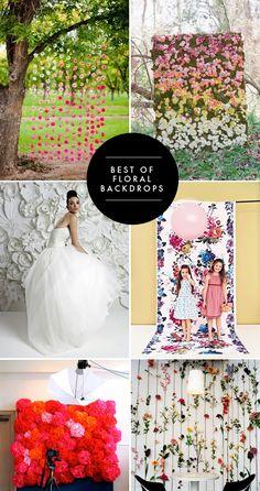Floral backdrops for your reception | Brooklyn Bride - Modern Wedding Blog