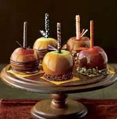 Caramel Apple Centerpieces And Favors Budget Brides Guide A