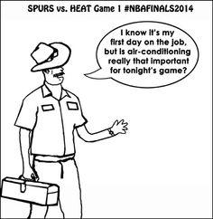 Spurs. Vs, Heat: Game 1 of NBA Basketball Finals 2014.