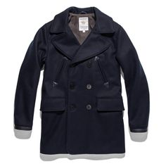 31563d0fc4 The Mendocino Peacoat in Navy Melton Wool