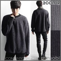 Men's bicoloured fluffy Sweater (top-7361)
