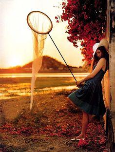 Lily Cole shot by Tim Walker for Vogue UK 2005