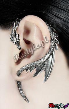 Earring 3D DRAGON WITH WINGS Ear Cuff $6.70