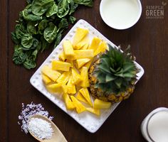 Head to the tropics with this spin on a pina colada!! via Simple Green Smoothies