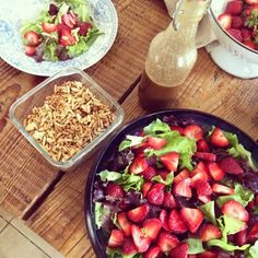 summer eating at its simplest and yummiest...Strawberry Salad & Balsamic Vinegrette