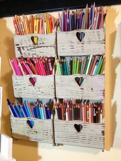 Cuddlebug Cuties.  Great way to store pencils