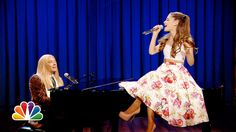 Jimmy Fallon and Ariana Grande sing Broadway versions of rap songs