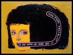 """RETÓRICA Mixta y óleo sobre tabla. 30x40 Obra de la serie """"7 artes liberales"""" del proyecto SEPTIES SEPTEM. http://septiesseptem.blogspot.com.es/"""