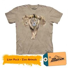 Tricouri The Mountain – Tricou Lion Pack Mountain Lion, Zoo Animals, Packing, Cats, Mens Tops, T Shirt, Bag Packaging, Gatos, Tee
