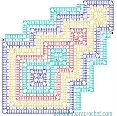 Patrón manta crochet.                                                       …: