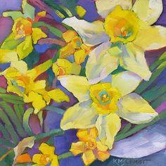 Louisiana Edgewood Art Paintings by Louisiana artist Karen Mathison Schmidt: More daffodils! Watercolor Flowers, Watercolor Paintings, Art Paintings, Watercolors, Art Floral, Image Halloween, Art Carte, Image Nature, Southwestern Art