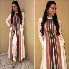 All our Bollywood divas are wearing ivory and hues of white this wedding season Indian Fashion Dresses, Dress Indian Style, Indian Gowns, Indian Outfits, Stylish Dress Designs, Stylish Dresses, Pakistani Dress Design, Pakistani Dresses, Indian Designer Suits