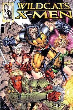 wildcats x-men by Jim Lee 4 Comic Book Artists, Comic Book Characters, Comic Book Heroes, Comic Artist, Comic Books Art, Marvel Characters, Marvel Dc Comics, Marvel Heroes, Marvel Art