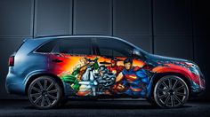 Special Justice League Kia Sorento for San Diego Comic-Con