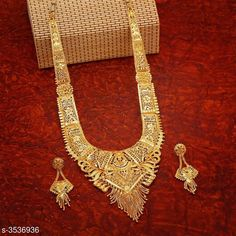 Checkout this latest Jewellery Set Product Name: *Women's Alloy Gold Plated Jewellery Set* Country of Origin: India Easy Returns Available In Case Of Any Issue   Catalog Rating: ★4.1 (3238)  Catalog Name: Women's one gram Gold Jewellery Set CatalogID_492706 C77-SC1093 Code: 644-3536936-5511