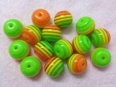 10pc 20mm Rainbow Striped Gumball Chunky Bubblegum Beads Bracelet Earrings Necklace Beading Supplies CKC27