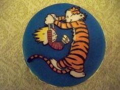 """Calvin and hobbes birthday cake - 6"""" round"""