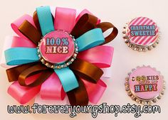 Christmas Cutie Interchangeable Loopy Bottle Cap Bow