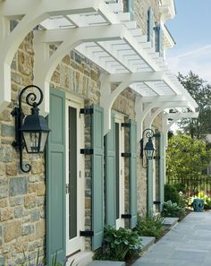 www.houzz.com C hoosing exterior shutter paint is a challenge. Aside from durability, the homeowner must consider every aspect of th...