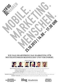ifog Akademie Markentage |Mobile. Marketing. Menschen. Mobile Marketing, Events, Words, People, Branding, Poster, Horse
