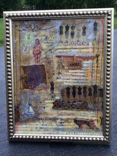 """Adore""  11""x 14"" Encaustic mixed media  by Laura Jacob $225.00"