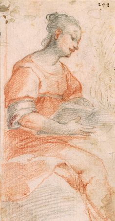 Alessandro Casolani | ca. 1552-1607 | Seated Woman with a Book | The Morgan Library & Museum