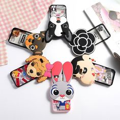 Bunny Soft Silicon Coque Phone Cases For IPhone 5S SE 5 case 6S Plus 3D Dog Painting Hollow Transparent Cover Shell Fundas Capa