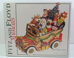 Fitz & Floyd Santa Mobile Holiday Musical Collection New in Box Never Opened  | eBay