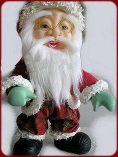 "МК лепка ""Санта Клаус"" --Gumpaste (fondant, polymer clay) Santa Claus figure making tutorials - Мастер-классы по украшению тортов Cake Decorating Tutorials (How To's) Tortas Paso a Paso"