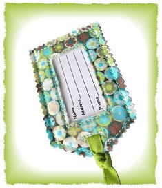 GG Designs Embroidery - Shabby Luggage Tag (in the hoop) (Powered by CubeCart)