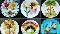 Fun kids food plates by ollie Healthy Meals For Kids, Kids Meals, Healthy Snacks, Healthy Recipes, Healthy Eating, Easy Recipes, Cute Food, Good Food, Comida Diy