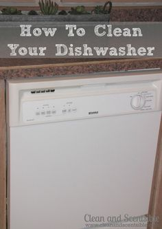 Clean & Scentsible: How to Clean Your Dishwasher {The Household Organization Diet}