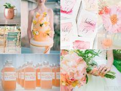 Pale neon orange wedding inspiration