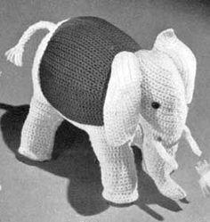 Love B and love elephants! (free pattern provided)