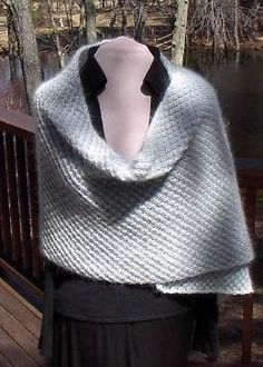 Free Knitting Pattern - Women's Shrugs, Wraps & Capes: Mohair Stole