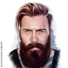 #beardsforlife#beards#bearded#beardie#beardgang#beardlove#beardporn#beardsandtats#beardedmen#artist#art#model#mustache#love #portrait#crative#digital#digitalart#themanclub#thebeardlife