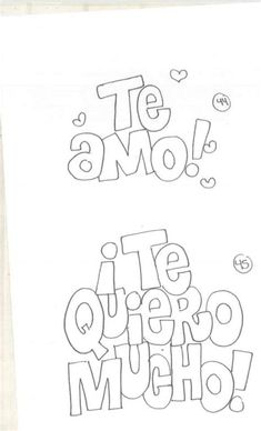 Cool Lettering, Brush Lettering, Words For Girlfriend, Alphabet Templates, Lettering Tutorial, Saint Valentine, Spanish Quotes, Stupid Memes, Coloring Pages