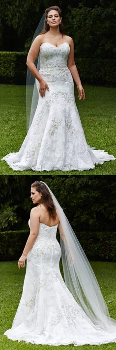 Plus Size Wedding Dress,Lace bridal gowns,Maxi wedding dress,2016 long wedding dress,For fat