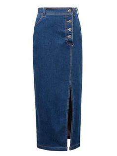Side Slit with Button Maxi Skirt #maxi #skirts #buttonsmaxiskirts