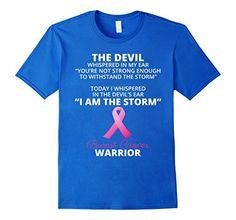 Men's I AM THE STORM - Breast Cancer WARRIOR T-Shirt 3XL ...