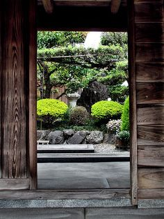 Gate to a Japanese garden